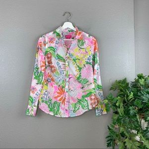 Lilly Pulitzer Lightweight Floral Print Blouse